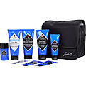 Jack Black The Grand Tour: Pit Boss Antiperspirant & Deodorant 1.3oz+Double-Duty Face Moisturizer Spf 20 1.5oz+Beard Lube Conditioning Shave 3oz+Pure Clean Daily Facial Cleanser 3oz+Turbo Wash Energizing Cleanser+Waxed-Canvas Travel Bag--6pcs for men by Jack Black