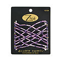 Zhoe Double Hair Combs - Shimmery Lavender for unisex by Zhoe