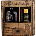 18.21 Man Made Man Made Wash & Sweet Tobacco Deodorant (Wash 18 oz, Deodorant 2.6 oz) for men by 18.21 Man Made